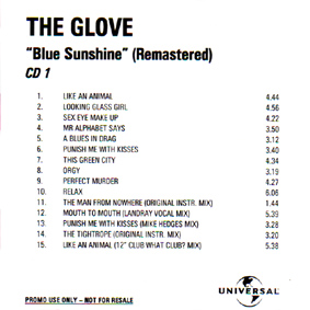 Blue Sunshine Promo CD Front Cover - Click Here For Full Scan