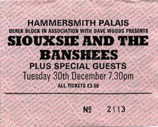 Hammersmith Palais Ticket 30/12/80 - Click Here For Bigger Scan