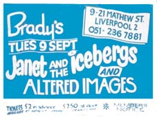 Brady's Club Ticket - Click Here For Bigger Scan