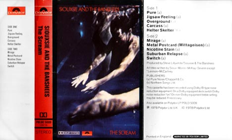 The Scream Cassette - Click Here For Bigger Scan