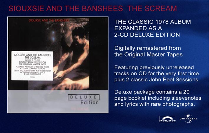 The Scream Remaster Instore Advert - Click Here For Bigger Scan